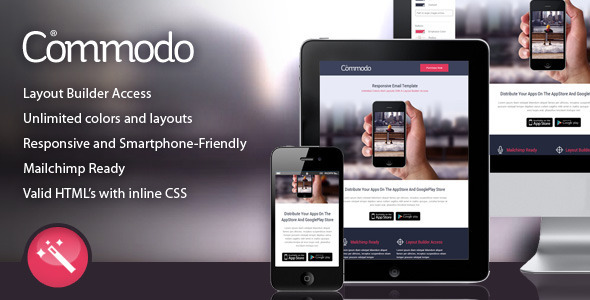 Commodo - Flat & Clean Responsive Email Template  TFx