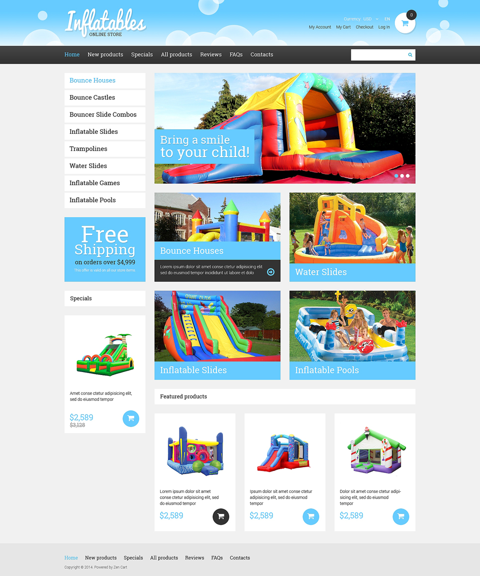 Entertainmnet ZenCart Template TMT