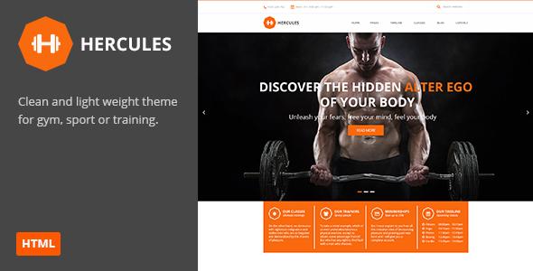 Hercules | Gym Fitness HTML Theme  TFx