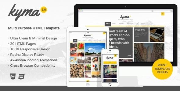 Kyma - Multipurpose HTML Template  TFx