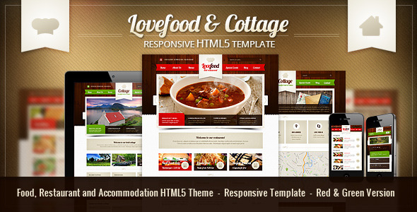 Lovefood & Cottage - Responsive HTML5 Theme  TFx