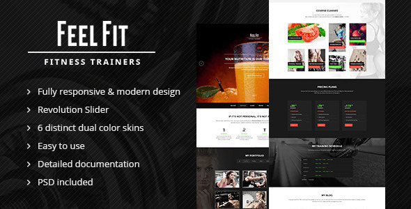 Personal Trainer - One Page HTML5 Template  TFx