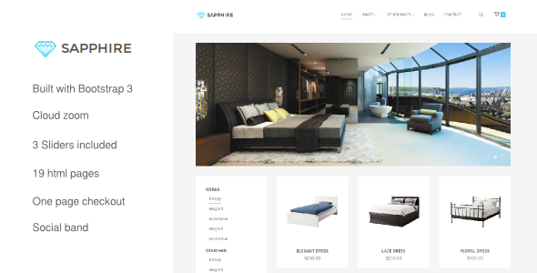 Sapphire - Bootstrap 3 eCommerce Template  TFx