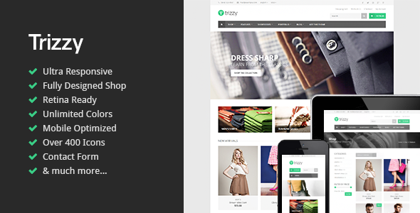 Trizzy - Responsive Multi-Purpose Shop Template  TFx