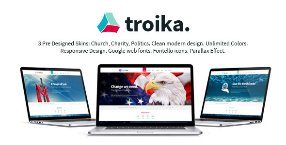 Troika - Multipurpose HTML Theme  TFx SiteTemplates