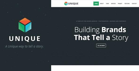 Unique - Parallax One Page Template  TFx