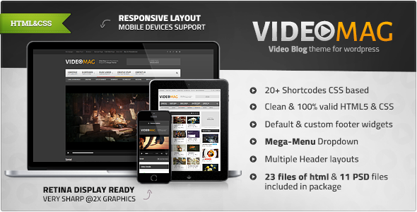 VideoMag - Powerful Video HTML Template  TFx