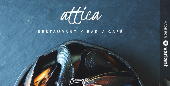 Attica - Restaurant Template with Page Builder  TFx