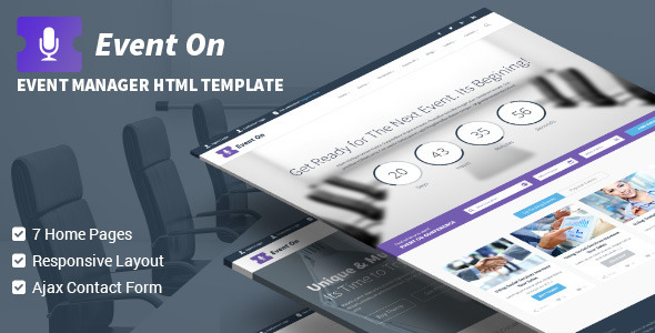 Event On - Responsive HTML Template  TFx