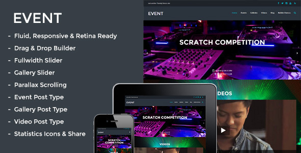Event - Responsive Parallax Events Theme  TFx
