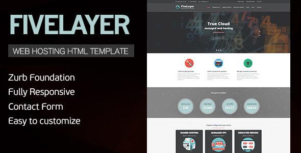 FiveLayer - Web Hosting, Responsive HTML Template  TFx