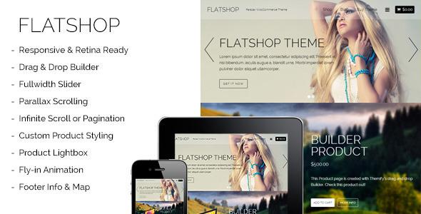 Flatshop - Parallax WooCommerce Theme  TFx