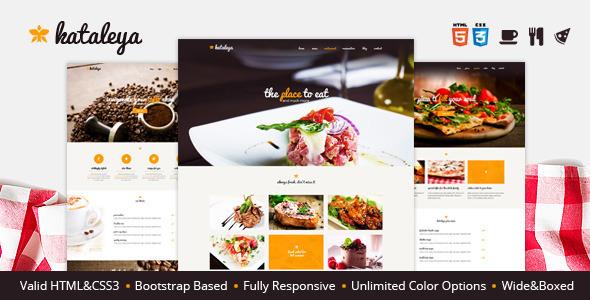 Kataleya - Restaurant Pizza Coffee HTML Template  TFx