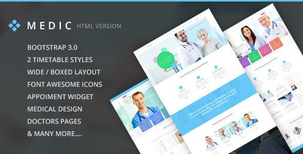 Medic - Medical, Health and Hospital HTML Theme  TFx