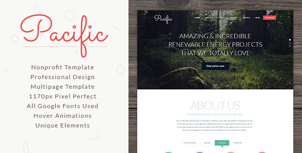 Pacific - NonProfit Template  TFx PSDTemplates