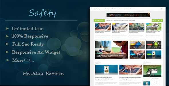 Safety - Responsive Multi-Purpose Blogger Template  TFx