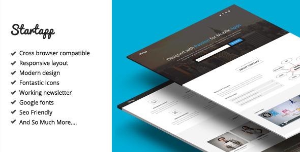 Startapp - Responsive Landing Page Template  TFx