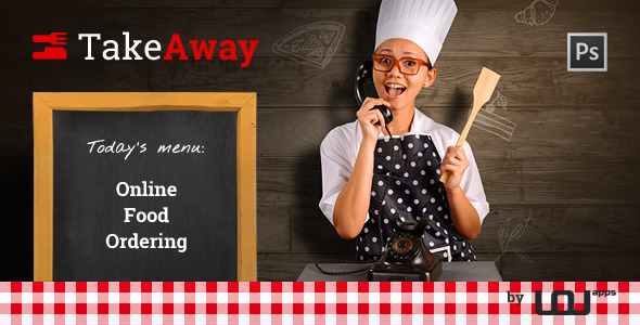 TakeAway - Online Food Ordering (PSD)  TFx