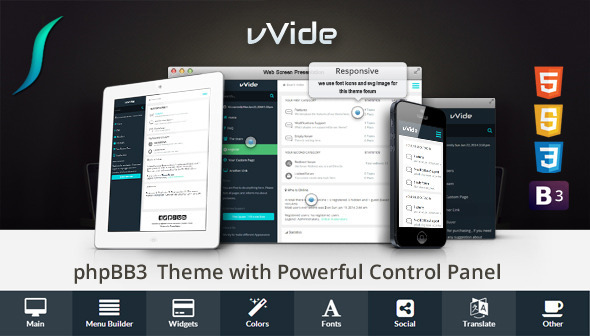 Wide - Bootstrap 3 Responsive phpBB3 Theme  TFx