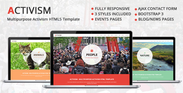 Activism - Multipurpose Activism HTML5 Template  TFx
