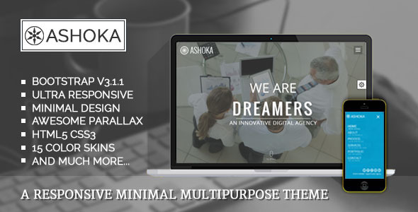 Ashoka - Responsive Minimal Multipurpose Theme  TFx