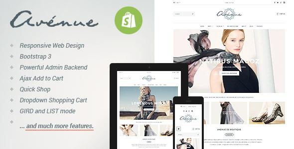 Avenue - Responsive Shopify Theme  TFx
