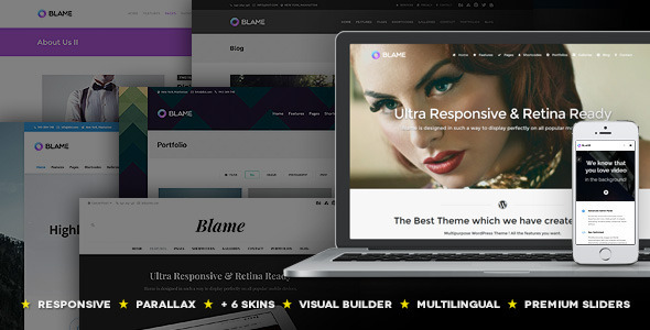 Blame - Responsive MultiPurpose WordPress Theme  TFx