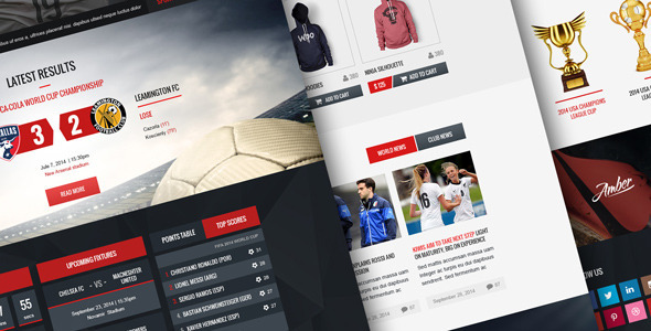 Champion - Soccer and Football PSD Template  TFx