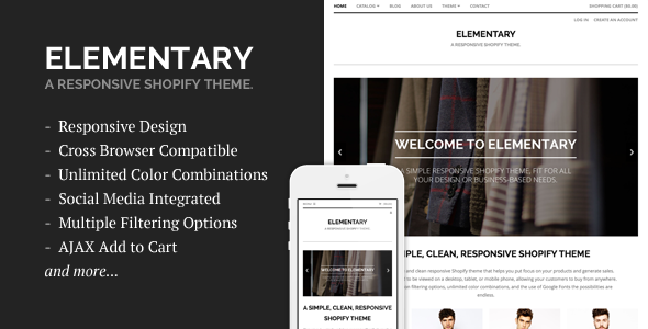 Elementary - A Responsive Shopify Theme  TFx