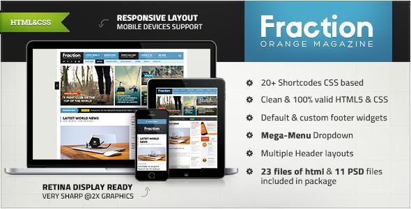 Fraction - Multipurpose News, Magazine HTML  TFx