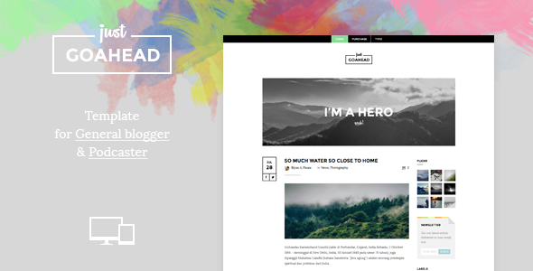 Go Ahead: Template For Blogger And Podcaster  TFx