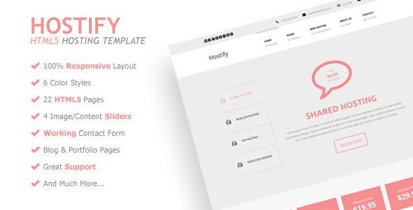 Hostify - Responsive HTML5 Hosting Template  TFx