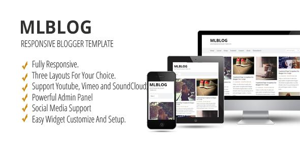 MLBLOG - Responsive Blogger Template  TFx