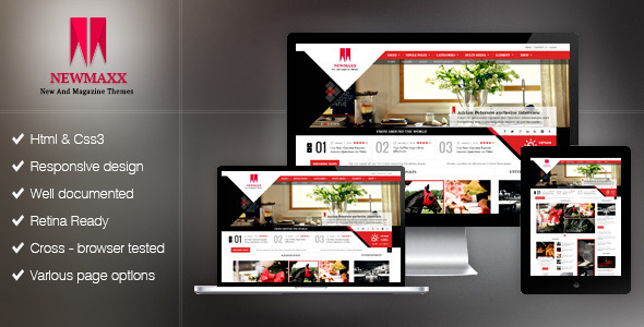 New Maxx HTML5 Magazine Web Template  TFx