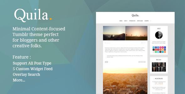 Quila | Clean Content-Focused Tumblr Theme  TFx