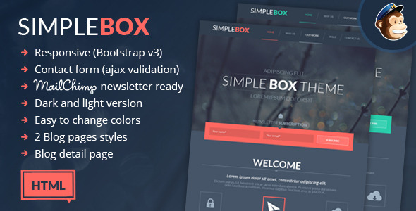 Simple Box - One Page Multi-Purpose HTML Theme  TFx