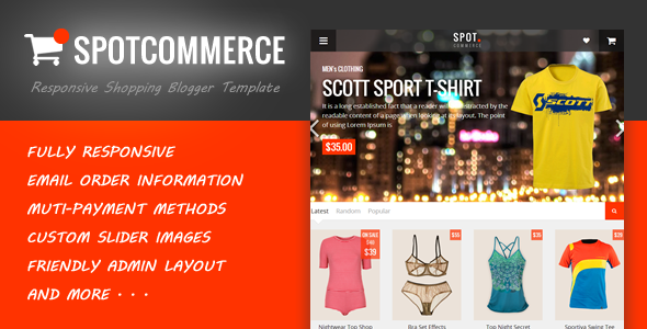 SpotCommerce - Blogger Shopping Template  TFx