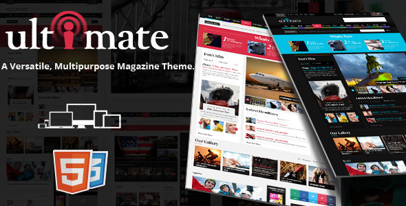 Ultimate Magazine Responsive HTML Template  TFx