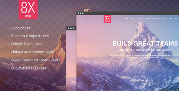 8X Supertheme - Multipurpose HTML Template  TFx