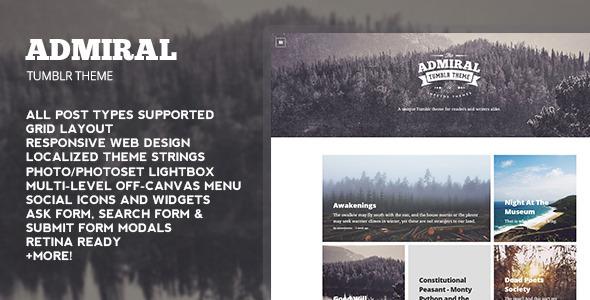 Admiral Tumblr Theme  TFx Blogging