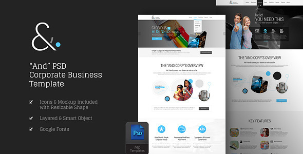 And Corporate PSD  TFx PSDTemplates