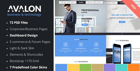 Avalon - Business & Technology PSD Template  TFx