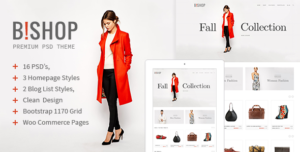 B!shop - E-Commerce and Blog PSD Theme  TFx