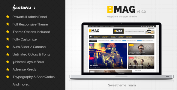 BMAG - Magazine Responsive Blogger Template  TFx