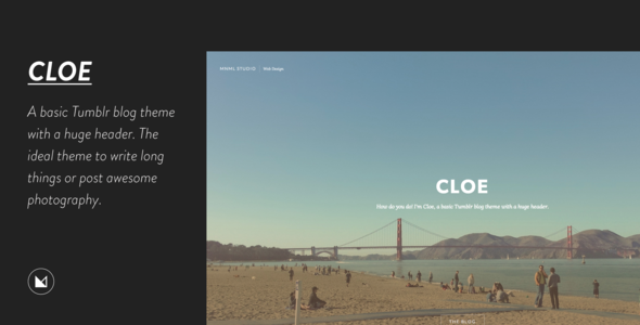 Cloe - Personal Blog Theme  TFx Blogging