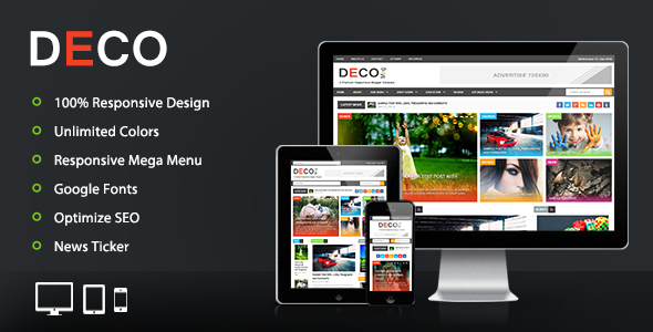 Deco Mag - Responsive Blogger Template  TFx
