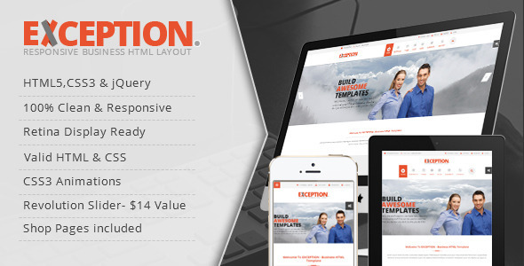 EXCEPTION - Responsive Business HTML Template  TFx