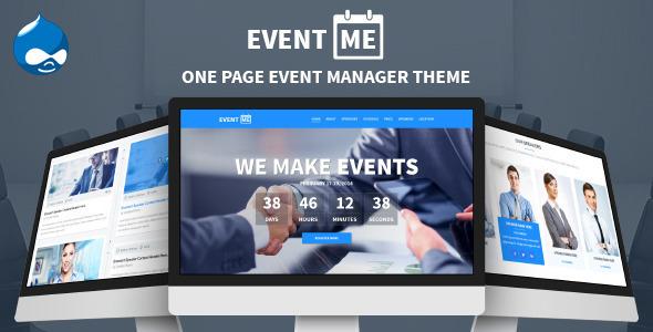 EventMe - Event Landing Drupal Theme  TFx