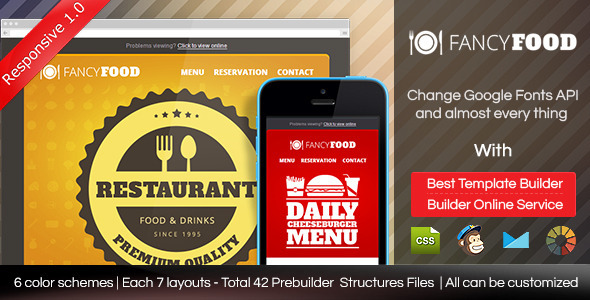 FancyFood - Responsive Email Template With Builder  TFx