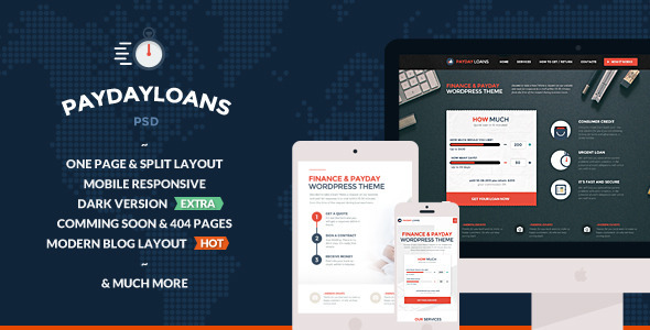 Finance & PayDay Loans 13 PSD Files  TFx